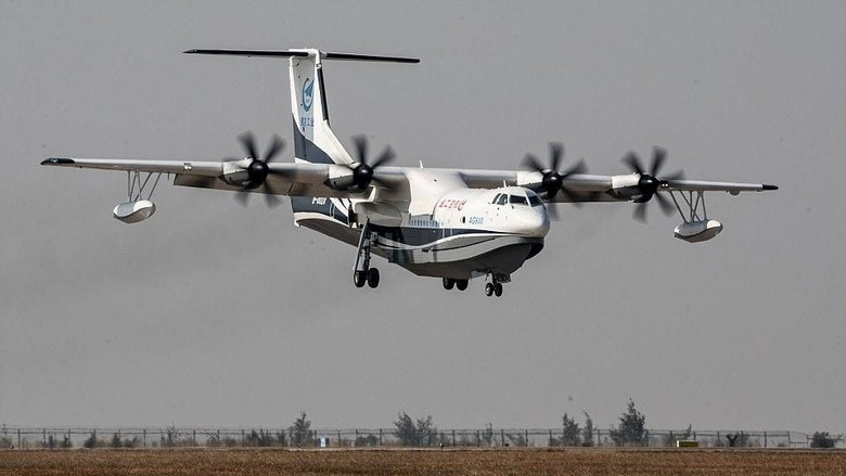 Foto: Kunlong, pesawat amfibi terbesar di dunia (Reuters)