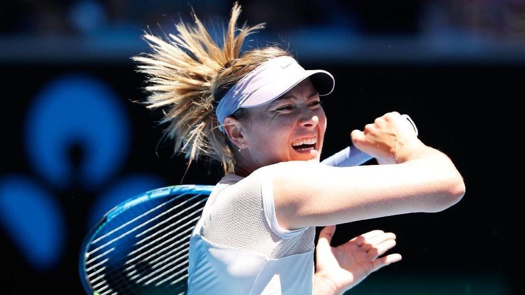 Kembali Tampil di Melbourne Park, Sharapova Menang Straight Set