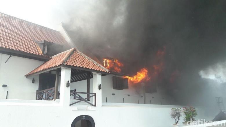 Foto: Museum Bahari kebakaran/Dok:Twitter DPKP DKI Jakarta