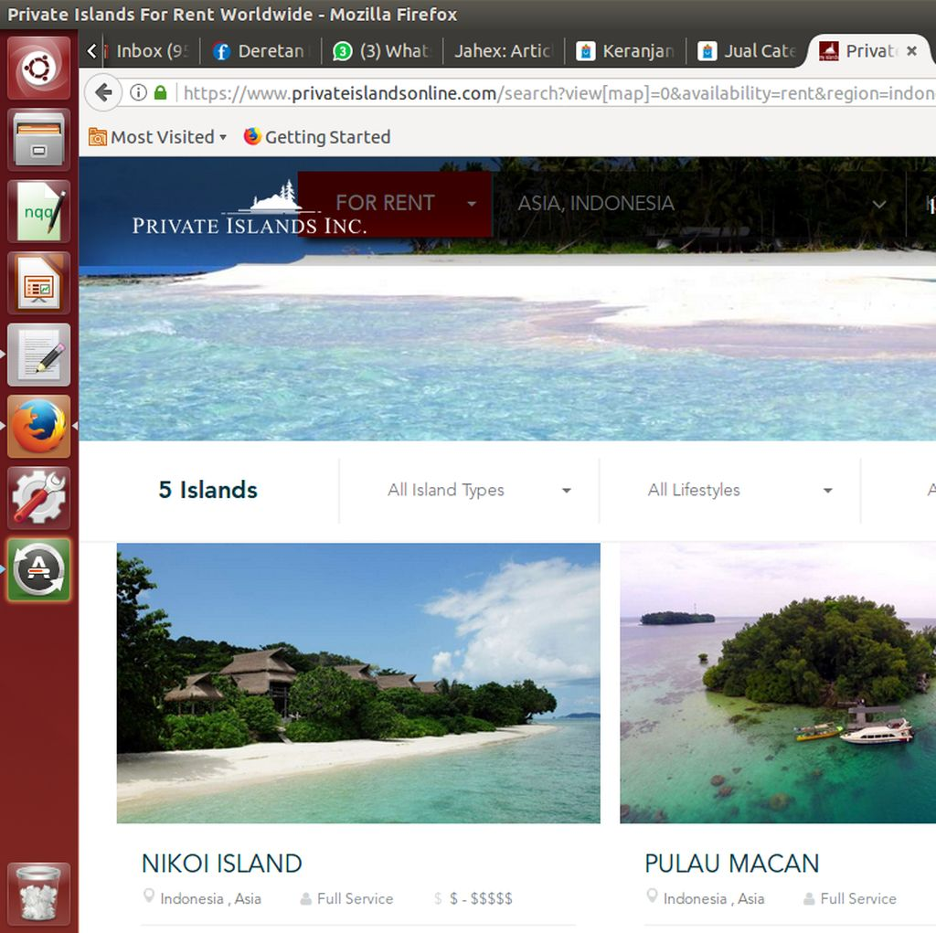 Ini 5 Pulau di RI yang Disewakan Lewat Internet