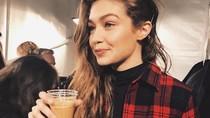 10 Potret Cantik Gigi Hadid Saat Menikmati Makanan Favorit