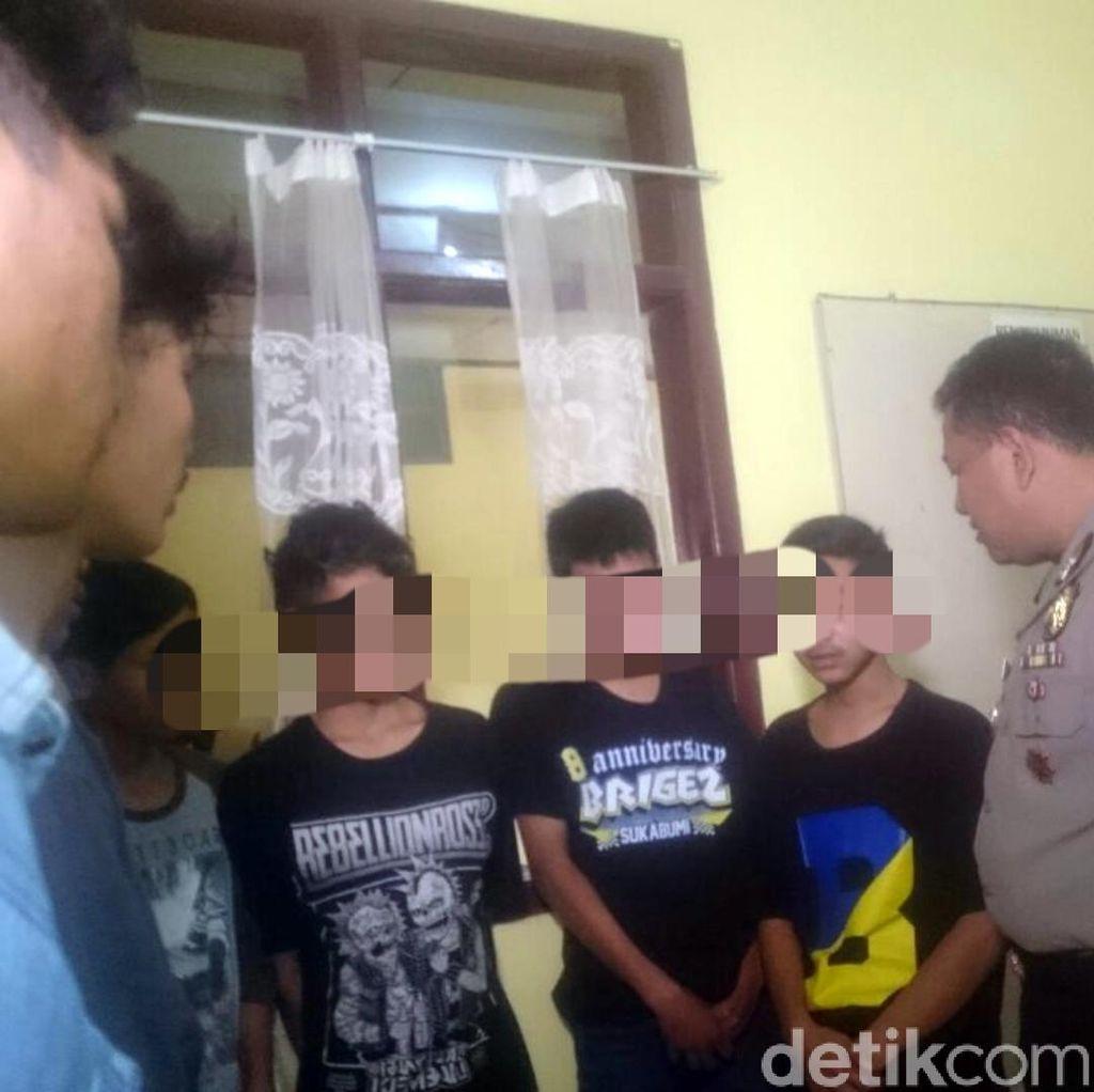 Keroyok Warga, Belasan Anggota Brigez Diamankan Polisi Sukabumi