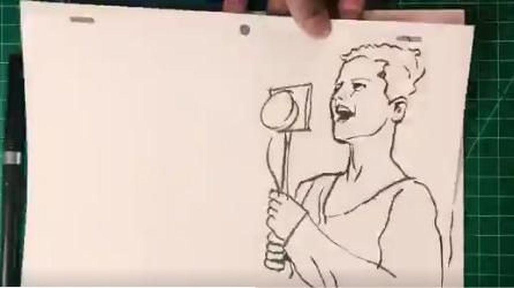 #RIPDoloresORiordan Masih Bergaung, Seniman Ini Bikin Karya Seni