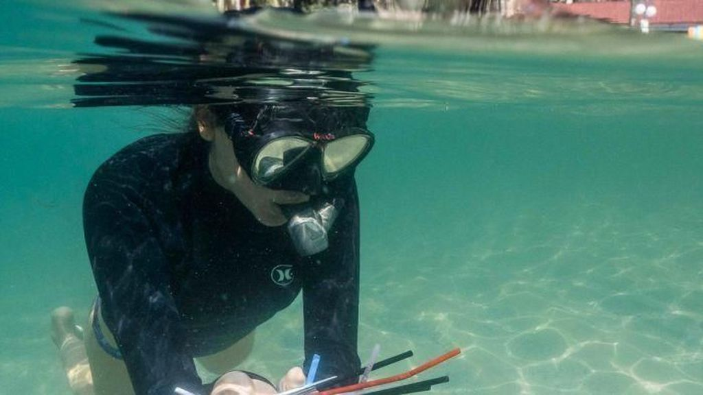 Proyek Pembersihan Limbah Sedotan Plastik di Sydney