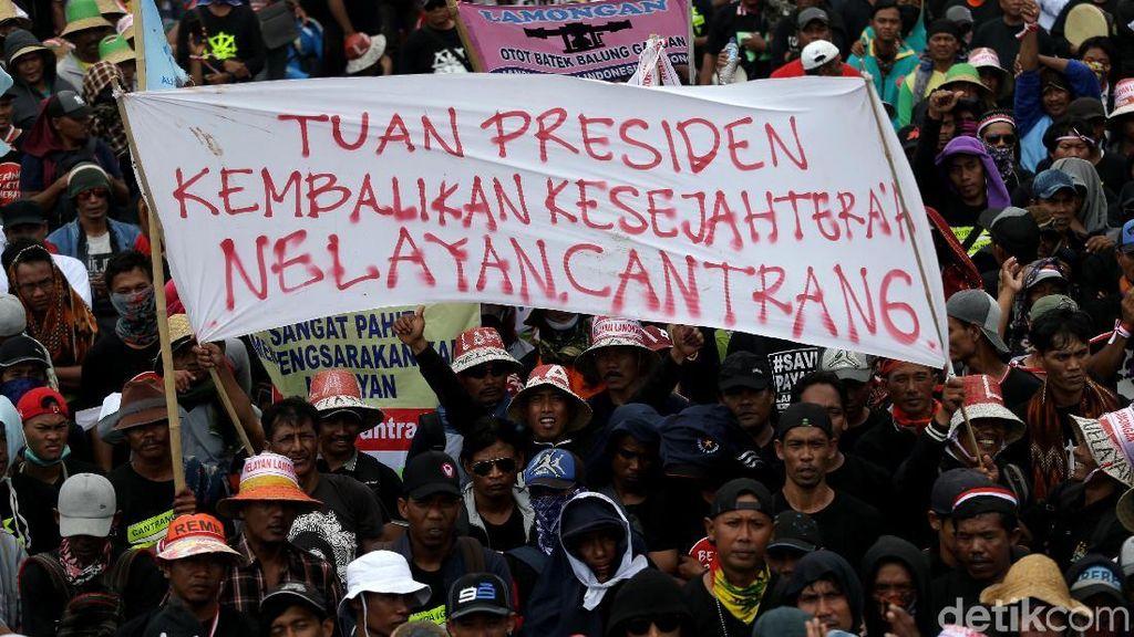Tolak Larangan Cantrang, Nelayan Gelar Demo Depan Istana