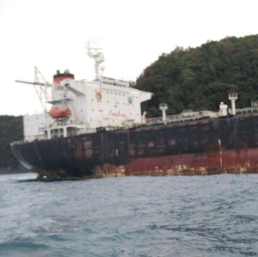 Kapal Tanker Misterius Berbendera Amerika Kandas di Bintan