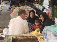 Pencari Suaka Telantar di Trotoar Kalideres, Jakarta Barat