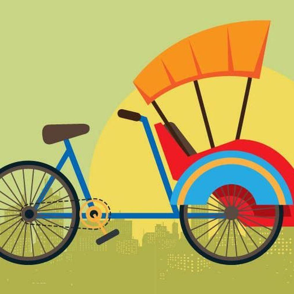 Becak, Alat Transportasi Pemerintah di Era Jepang