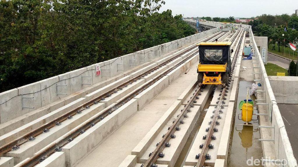 Mantap, LRT Palembang Terus Dikebut Jelang Asian Games
