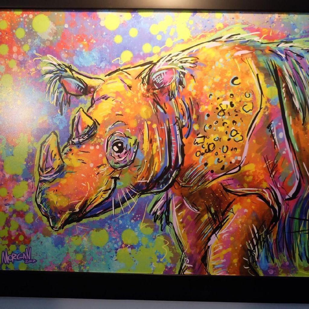 Badak Sumatera di Mata 10 Seniman Muda