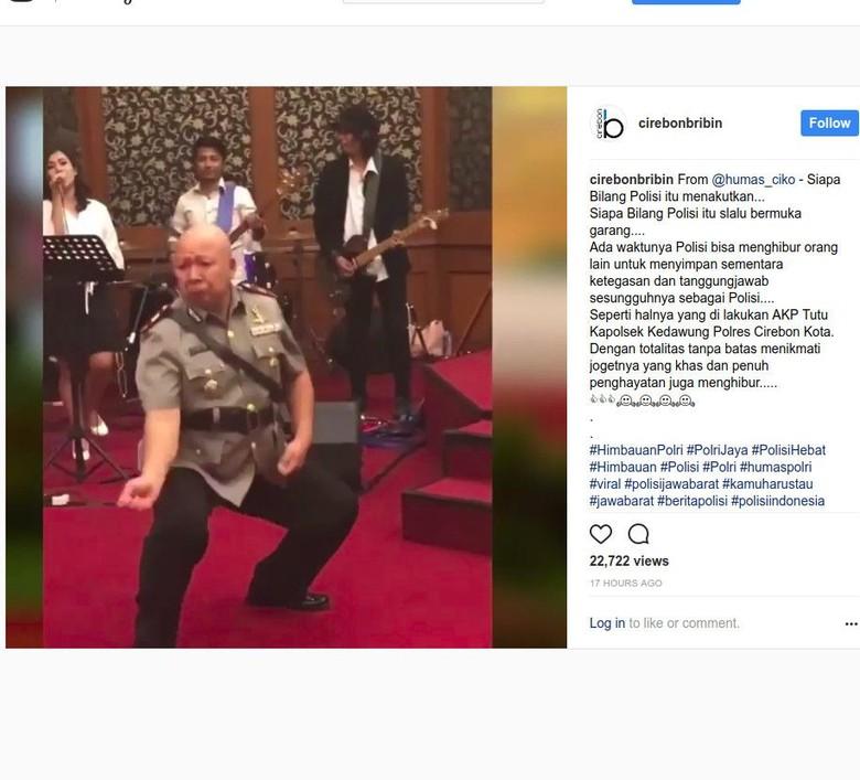 Aksi Gokil Polisi Cirebon Joget Jaran Goyang Hebohkan Warganet
