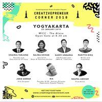 Daftar di sini untuk ikut Creativepreneur Corner 2018