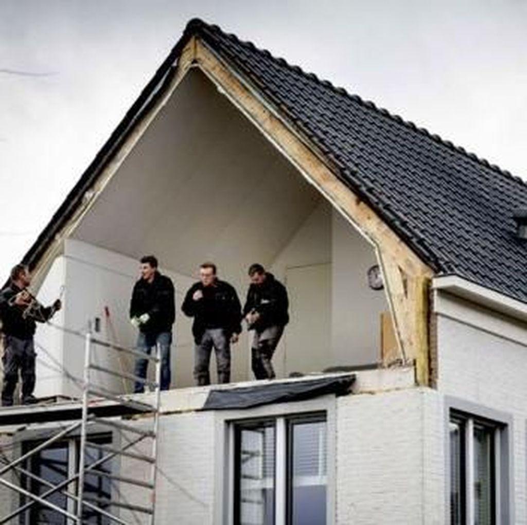 Potret Amukan Badai Super Kencang di Belanda