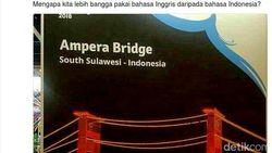 Jembatan Ampera Pindah ke Sulsel, Poster Asian Games Diperbaiki