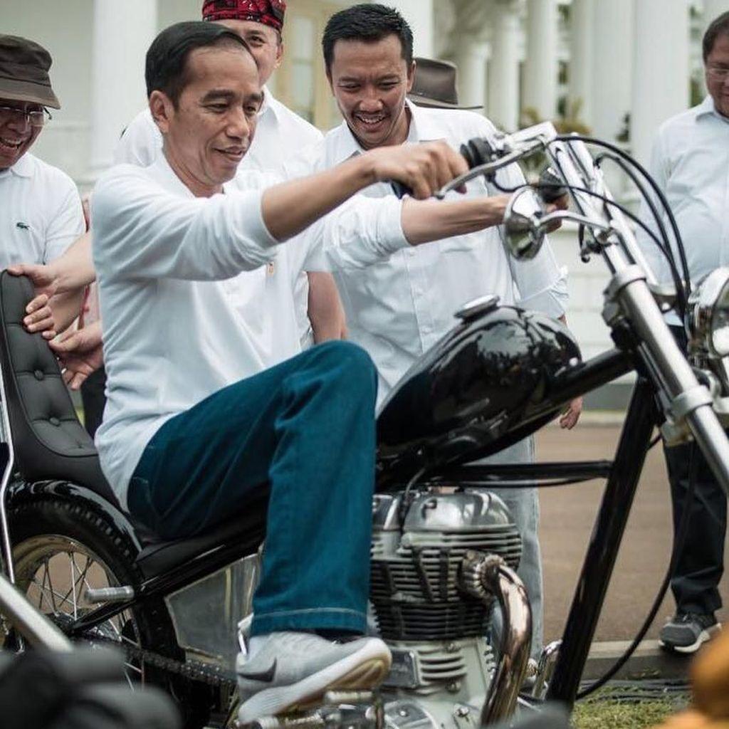 Keren! Ini Motor Chopper Emas yang Dibeli Jokowi di Lebak Bulus