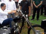 Penampakan Motor Chopper Emas Jokowi Saat Diantar ke Istana Bogor