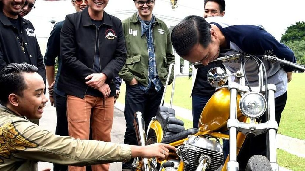 75% Komponen Motor Chopper Punya Jokowi Made in Indonesia