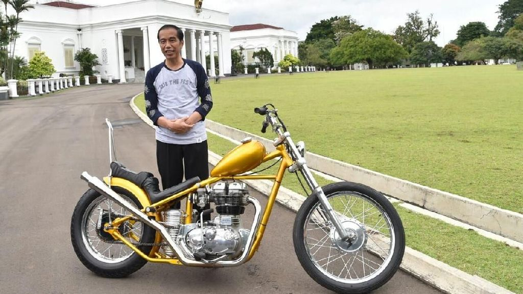 Beli Motor Chopper Emas, Jokowi: Saya Dorong Produk Lokal