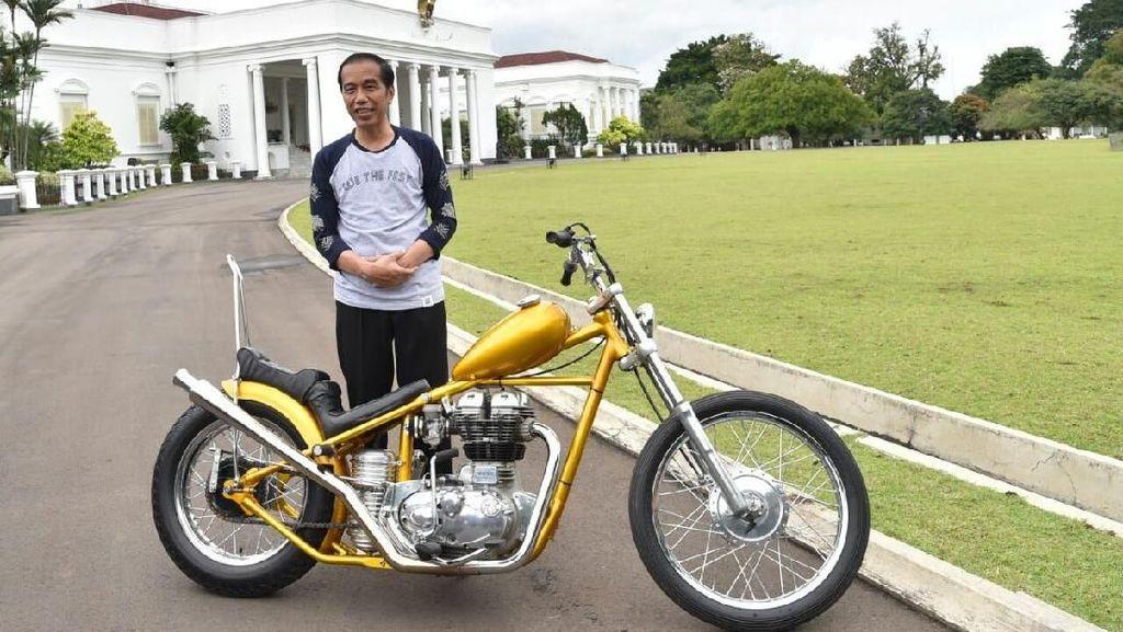 Cerita di Balik Chopper Emas Bikinan Elders Garage Sampai Dibeli Jokowi