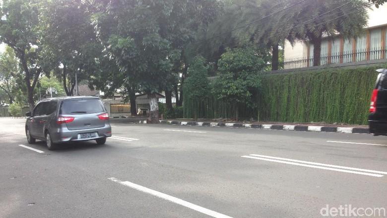 Foto: Lokasi Kecelakaan Moge vs SUV di Pakubuwono