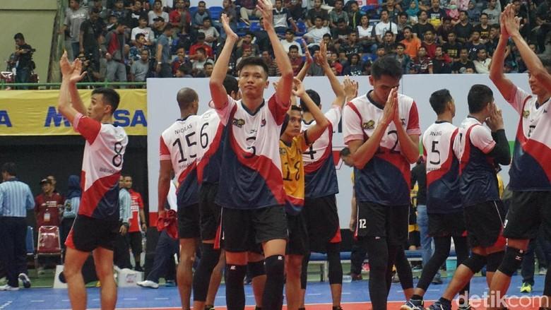 Ketat, Bhayangkara Samator Tekuk Palembang Bank Sumselbabel 3-2