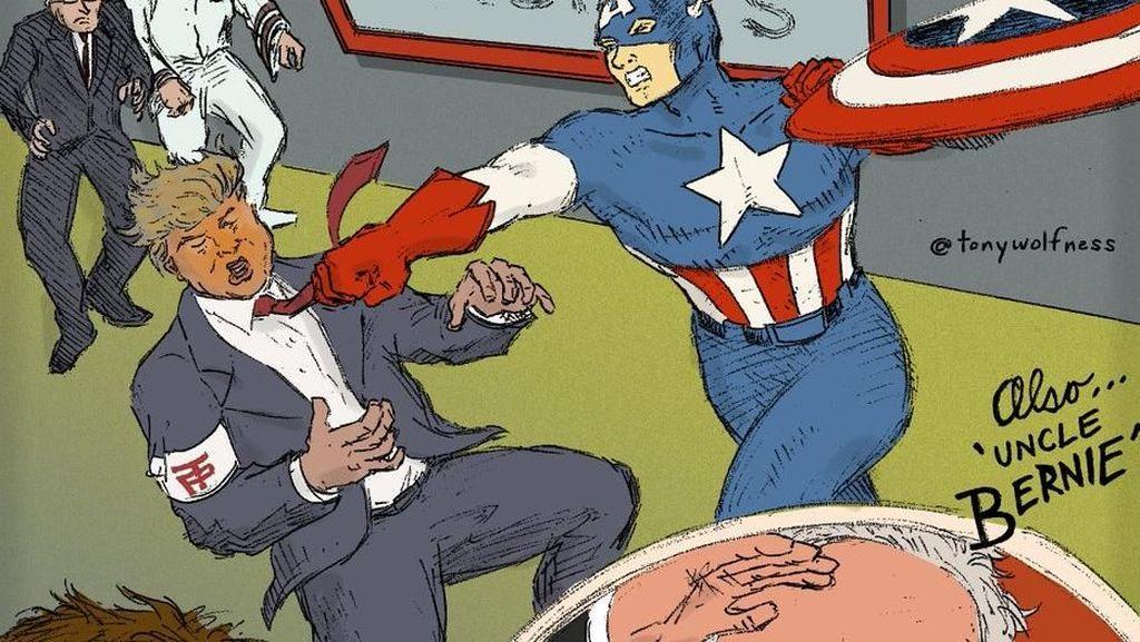 Donald Trump Bikin 'Hulk' dan 'Captain America' Mengamuk