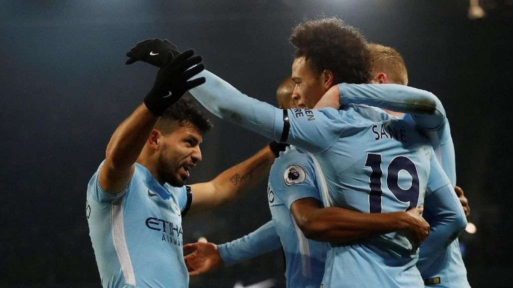 Hat-trick Sempurna Aguero vs Newcastle