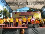 Deklarasi di CFD, Incumbent Riau Bagi 10 Ribu Porsi Sarapan Gratis