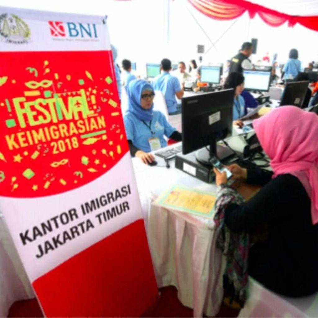 BNI Beri Layanan Pembayaran Praktis di Festival Keimigrasian 2018