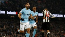 Hat-trick Aguero Antar City Taklukkan Newcastle 3-1