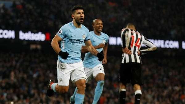 Hat-trick Aguero Antar City Taklukkan Newcastle 3-1
