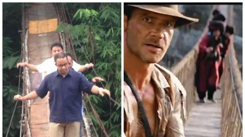 Perbandingan Jembatan Jagakarsa-Indiana Jones yang Disebut Anies Mirip