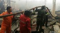 Swalayan Sinar Fresh dan Gudang di Banyuwangi Terbakar