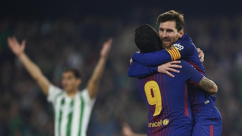 Messi + Suarez Lebih Tajam dari 15 Klub La Liga
