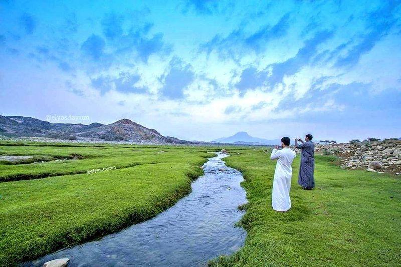 Inilah Wadi Al-Bardani. Adalah lembah yang disebut paling indah di Kerajaan Arab Saudi (Dok. Istimewa/Al Arabiya.net)