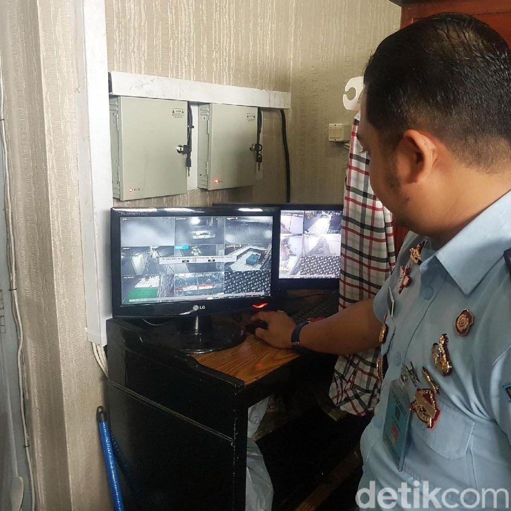 Pelempar Ganja ke Lapas Nyomplong Sukabumi Terekam CCTV