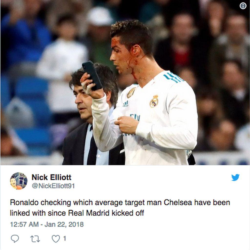 Meme Berdarah Ronaldo Ramai Jadi Gunjingan Netizen