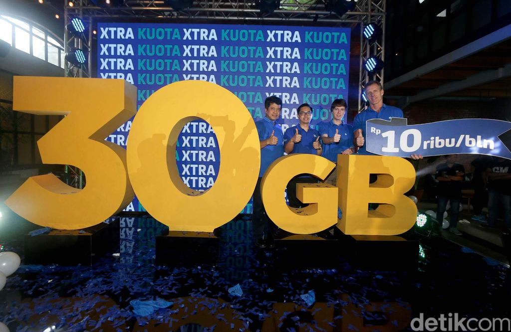 Seiring dengan semakin banyaknya aktivitas produktif dalam mengakses internet, XL memperkenalkan paket Xtra Kuota yaitu tambahan kuota sebesar 30GB hanya dengan harga Rp 10 ribu. Wow!