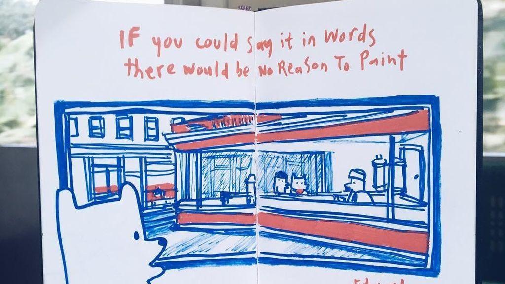 Ilustrasi Choo Choo Muncul saat Naik KRL, dari Mana Inspirasinya?