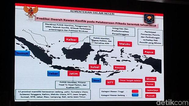 Pemetaan daerah rawan konflik saat Pilkada Serentak 2018