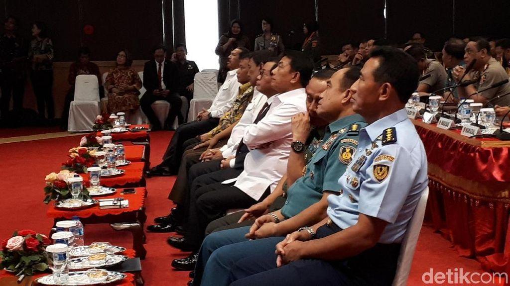 Wiranto, Moeldoko hingga Pramono Hadiri Rapim TNI-Polri di Cilangkap