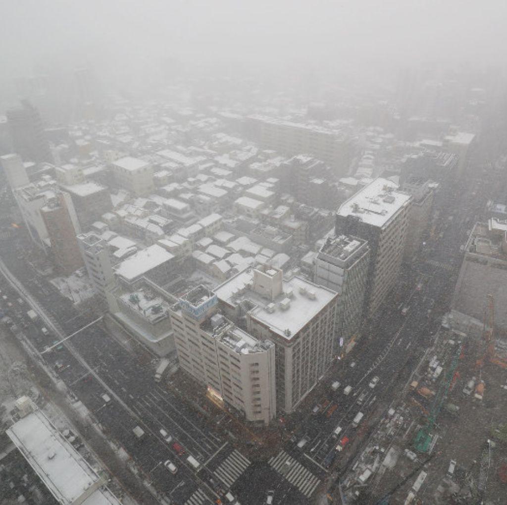Foto: Tokyo Diselimuti Salju Tebal yang Langka