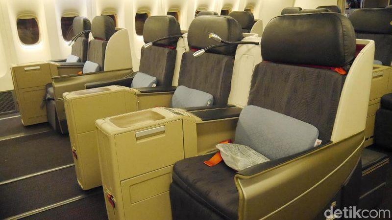 Foto: detikTravel menjajal penerbangan Turkish Airlines nomor TK0057 rute Jakarta-Istanbul (Kurnia/detikTravel)