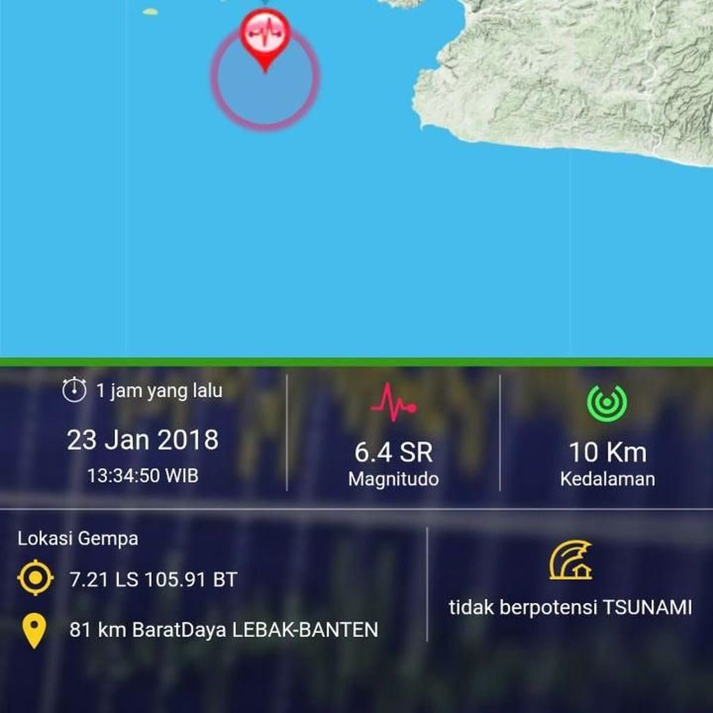 Pantau Lokasi Akurat #Gempa via Aplikasi Ini