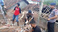 Suasana pasca gempa di Lebak, Banten