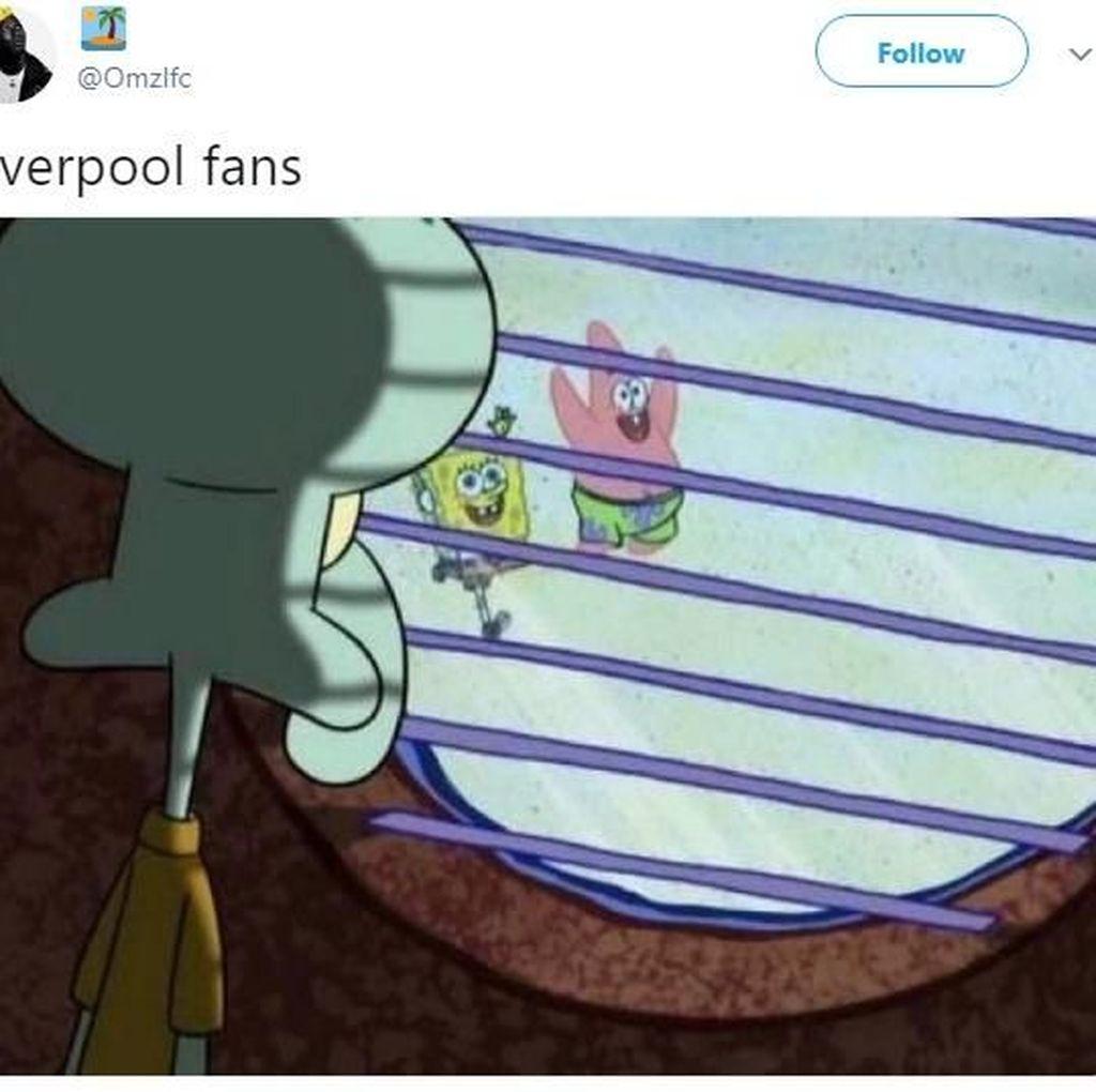 Tawa Netizen Usai Liverpool Keok dari Juru Kunci
