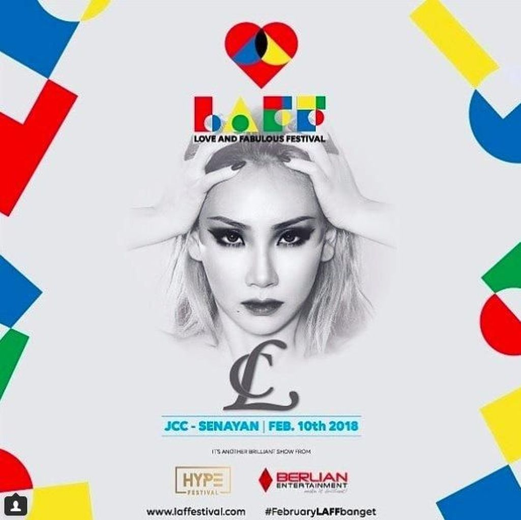 CL akan Sambangi Jakarta Lewat LAFF Festival 10 Februari