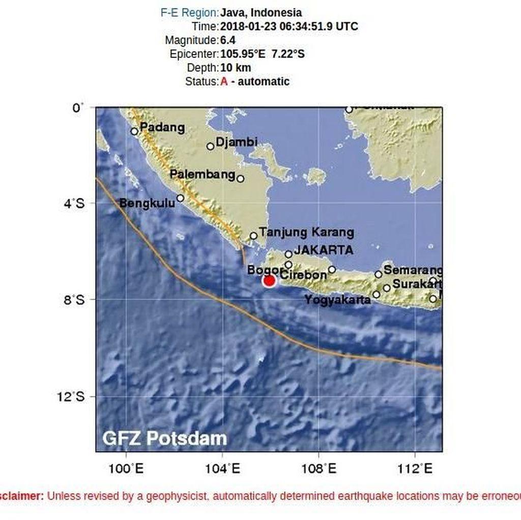 Testimoni Warga: Gempa Banten Goyang Jakarta Sampai Bandung