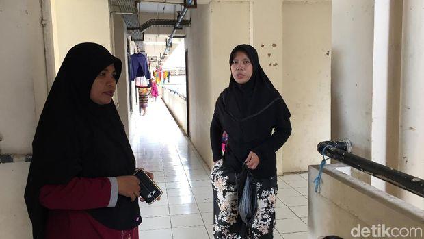 Penampakan Retakan di Rusun LH Bambu Cengkareng Akibat Gempa