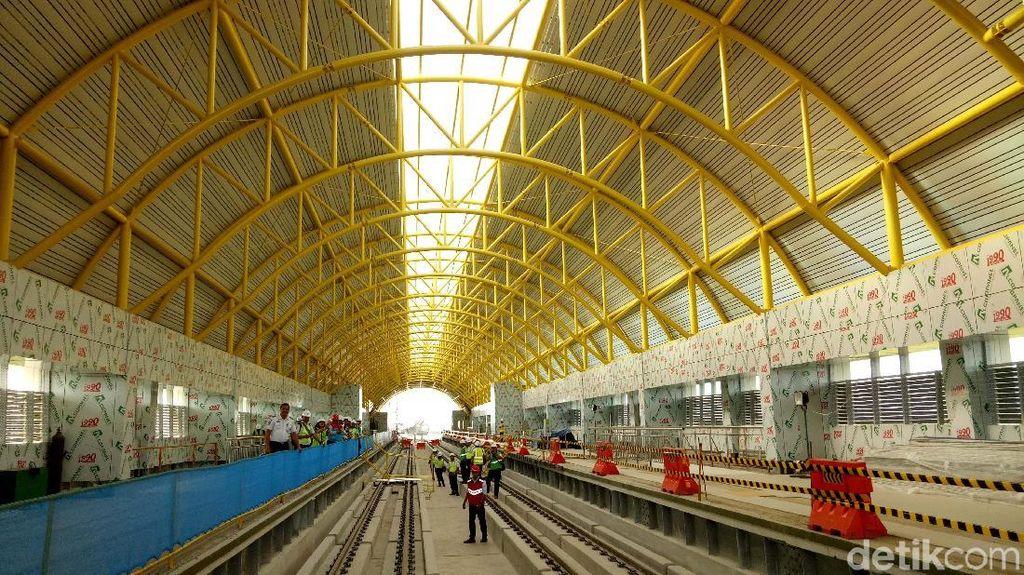 Ditarget Tak Molor, Konstruksi LRT Palembang Sudah 87%
